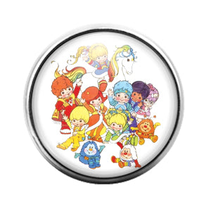 Rainbow Brite - 18MM Glass Dome Candy Snap Charm GD0758