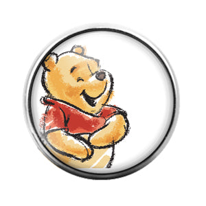 Winnie The Pooh - 18MM Glass Dome Candy Snap Charm GD0742