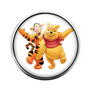Winnie The Pooh - 18MM Glass Dome Candy Snap Charm GD0671