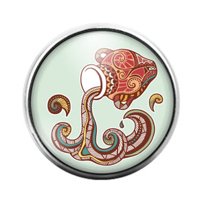 Astrology Signs - 18MM Glass Dome Candy Snap Charm GD0872