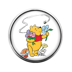 Winnie the Pooh - 18MM Glass Dome Candy Snap Charm GD0674