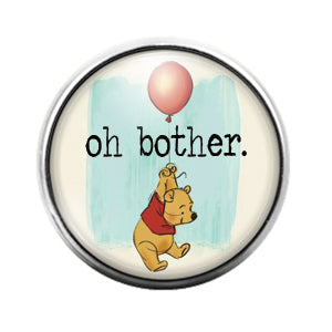 Winnie The Pooh - 18MM Glass Dome Candy Snap Charm GD0743