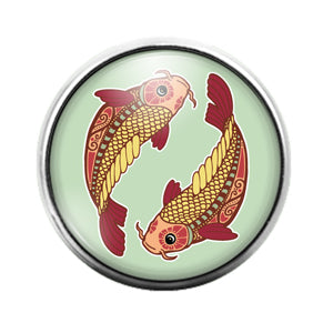Astrology Signs - 18MM Glass Dome Candy Snap Charm GD0873