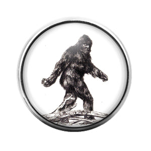 Big Foot - 18MM Glass Dome Candy Snap Charm GD0703