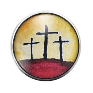 Crosses - 18MM Glass Dome Candy Snap Charm GD1284
