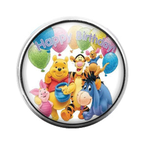 Winnie the Pooh - 18MM Glass Dome Candy Snap Charm GD0675