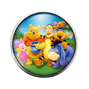 Winnie the Pooh- 18MM Glass Dome Candy Snap Charm GD0967