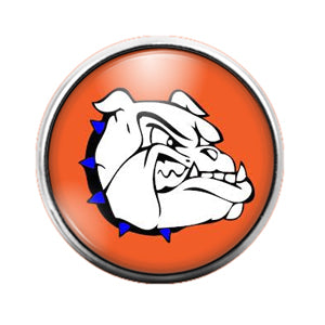 Bulldogs- 18MM Glass Dome Candy Snap Charm GD0807