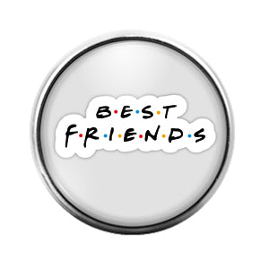 Best Friends - 18MM Glass Dome Candy Snap Charm GD1442