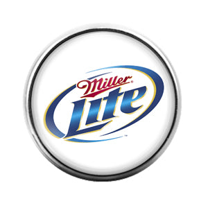 Miller Lite- 18MM Glass Dome Candy Snap Charm GD1087