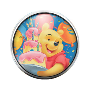 Winnie The Pooh - 18MM Glass Dome Candy Snap Charm GD0680
