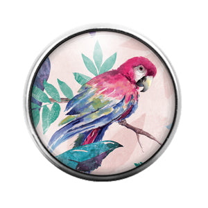 Parrot Bird - 18MM Glass Dome Candy Snap Charm GD1482