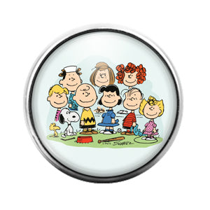 Peanuts Charlie Brown - 18MM Glass Dome Candy Snap Charm GD0886