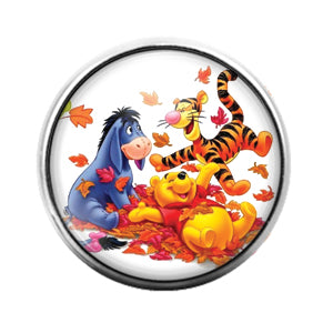 Winnie The Pooh - 18MM Glass Dome Candy Snap Charm GD0681