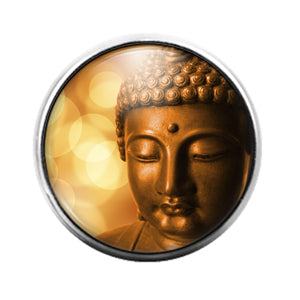 Buddha - 18MM Glass Dome Candy Snap Charm GD1286