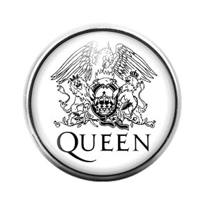 Queen - 18MM Glass Dome Candy Snap Charm GD0890