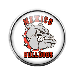 Mexico Bulldogs- 18MM Glass Dome Candy Snap Charm GD0809