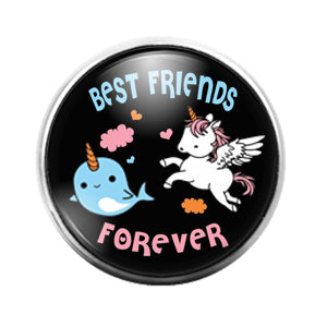 Best Friends - 18MM Glass Dome Candy Snap Charm GD1444
