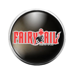 Fairy Tail Anime - 18MM Glass Dome Candy Snap Charm GD0472
