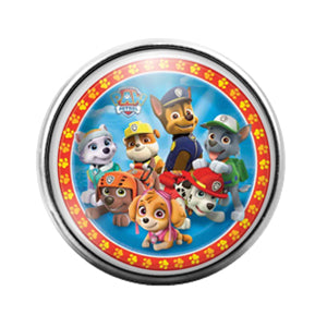 Paw Patrol- 18MM Glass Dome Candy Snap Charm GD1002