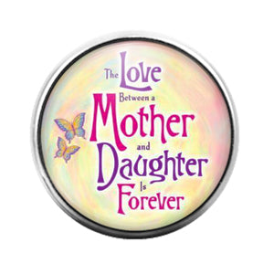 Love Between a Mother & Daughter- 18MM Glass Dome Candy Snap Charm GD1547