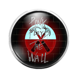 Pink Floyd- 18MM Glass Dome Candy Snap Charm GD1063