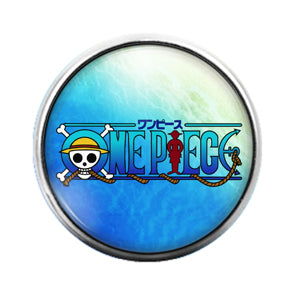 One Piece Anime - 18MM Glass Dome Candy Snap Charm GD0473
