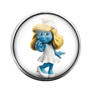 Smurf - 18MM Glass Dome Candy Snap Charm GD0695
