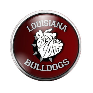 Louisiana Bulldogs - 18MM Glass Dome Candy Snap Charm GD0812