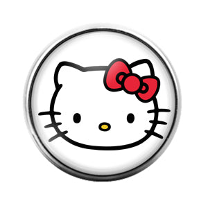 Hello Kitty- 18MM Glass Dome Candy Snap Charm GD1127