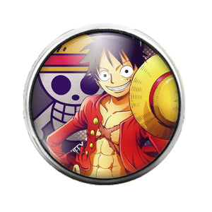 One Piece Anime - 18MM Glass Dome Candy Snap Charm GD0474