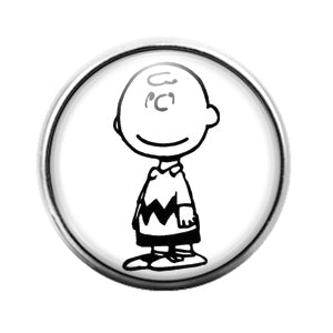 Charlie Brown - 18MM Glass Dome Candy Snap Charm GD0717