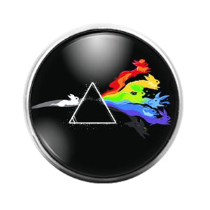 Pink Floyd - 18MM Glass Dome Candy Snap Charm GD1228