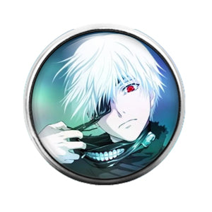 Anime - 18MM Glass Dome Candy Snap Charm GD0475