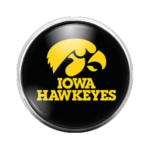 Iowa Hawkeyes- 18MM Glass Dome Candy Snap Charm GD0405
