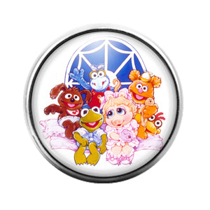 Muppet Babies- 18MM Glass Dome Candy Snap Charm GD1330