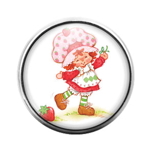 Strawberry Shortcake - 18MM Glass Dome Candy Snap Charm GD0719