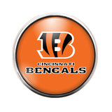 Cincinnati Bengals- 18MM Glass Dome Candy Snap Charm GD0403