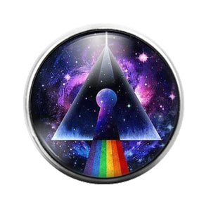 Pink Floyd - 18MM Glass Dome Candy Snap Charm GD1231