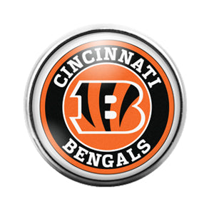 Cincinnati Bengals- 18MM Glass Dome Candy Snap Charm GD0402