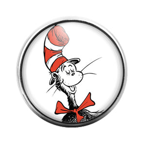 Dr. Seuss - 18MM Glass Dome Candy Snap Charm GD1417