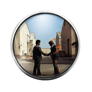 Pink Floyd - 18MM Glass Dome Candy Snap Charm GD1233