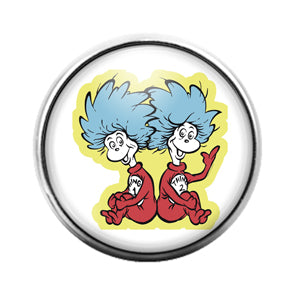 Dr. Seuss - 18MM Glass Dome Candy Snap Charm GD1418