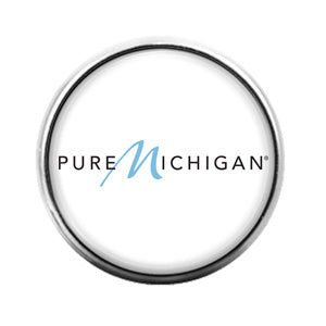 Pure Michigan - 18MM Glass Dome Candy Snap Charm GD0882