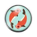 Astrology Sign Symbol - 18MM Glass Dome Candy Snap Charm GD0913