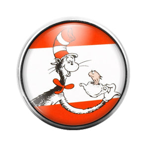 Dr. Seuss - 18MM Glass Dome Candy Snap Charm GD1420