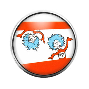 Dr. Seuss - 18MM Glass Dome Candy Snap Charm GD1421