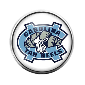 Carolina Tar Heels - 18MM Glass Dome Candy Snap Charm GD0570