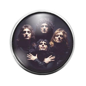 Queen - 18MM Glass Dome Candy Snap Charm GD1394