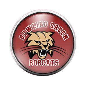 Bowling Green Bobcats - 18MM Glass Dome Candy Snap Charm GD0823